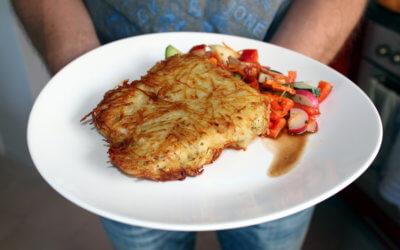 Kartoffelknusperschnitzel